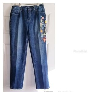 💎 Talbot's jeans with embroidery design. Size 10